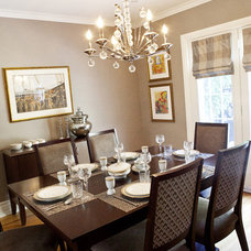 Traditional Dining Room by Pure Bliss Creative Design