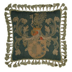 """EuroLux Home - New Aubusson Throw Pillow 20""""x20"""" Key - Product Details"""