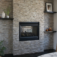 Contemporary Fireplaces by aZura Stoneworks
