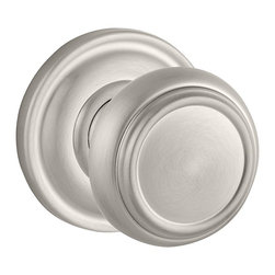 Baldwin Hardware - Baldwin Reserve Traditional Knob, Satin Nickel - Full Dummy - Full Dummy function