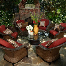 Traditional Patio by Out on the Patio