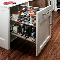 Trish Namm - Pull out pantry by Quality Custom Cabinetry available through Kent Kitchen Works