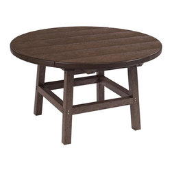 """C.R. Plastic Products - C.R. Plastics 32"""" Round Table In Chocolate - Can be used for residential or commercial use, Ergonomically designed, Heavy 78 gauge plastic lumber 12 used by competitors, All stainless steel hardware, No painting, No slivers, No Rot, Completely waterproof"""