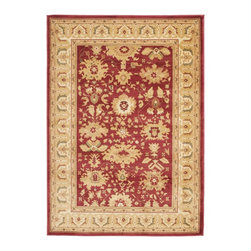 "Safavieh - Heirloom Red/Brown Area Rug HLM1741-4011 - 4' x 5'7"" - Safavieh's Heirloom collection offers the beauty and painstaking detail of traditional Persian and European styles with the ease of polypropylene. With a symphony of florals, vines and latticework detailing, these beautiful rugs bring warmth and life to any room."