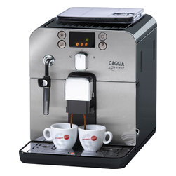 Gaggia - Gaggia Brera Black - Packing a whole lot of machine into a compact, counter-saving package, this home espresso maker makes it simpler than ever to serve up fully customized coffee drinks in your own kitchen. Control coffee aroma, strength and volume, and easily add frothed milk for lattes. The user-friendly design includes easily accessible parts for quick cleaning and a display for navigating custom options.