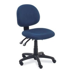 Virco - Task Chair w Tilt - Upholstered swivel chair. Perfect for principals, VPs and district administrators. Pneumatic seat-height control. Enables independent adjustment of the seat and back. Seat and back tilt as unit. Upright position tilt lock. 5-point caster base. No arms. GREENGUARD Certified. Confetti navy finish. Adjustable seat height: 17.75 - 22.75 in.. Seat depth: 18.5 in.. Back height: 16.5 in.. Overall: 19.75 in. W x 24 in. D x 38 in. H (27 lbs.)