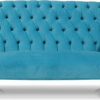 Parker Child Sofa - What child would not want their own sofa in their space? How fun is this tufted child size one? Yes, please!