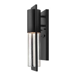 Hinkley Lighting - Hinkley Lighting 1326BK-LED Dwell Black Outdoor Wall Sconce - Hinkley Lighting 1326BK-LED Dwell Black Outdoor Wall Sconce