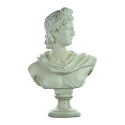 Casa de Arti - Classic Sculpture of Apollo Bust Famous Reproduction Large Decor Statue - Beautiful large statue of the famous Apollo, perfect for your home, office, or garden decor at an incredible price.