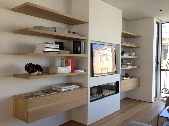 Modern Bookcases by Far West Millwork
