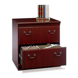 """Bush - Birmingham Collection- Cherry Lateral File - Bushs Office Furniture offers an unparalleled selection of designs and finishes, fashioned with both style and durability in mind. And with many pieces having features such as adjustable levelers for stability on uneven floors, adjustable shelves, durable edging, and grommets for wire access and concealment, youll find Bush Office Furniture as functional as it is beautiful. Features: -Height matches Desk height to extend work area. -Anti-tip safety feature. -File drawers hold letter- or legal-size files. -Harvest Cherry finish. -Dimensions: 30.5"""" H x 29.5"""" W x 20.75"""" D. -Ships Ready-to-Assemble. -Comes with manufacturer's 6-year warranty. About Bush Furniture Bush Furniture is the 8th largest furniture company in the United States. Bush manufactures high quality products which are designed to be easily assembled and to provide great value for the price. Bush Furniture is made from a combination of particleboard, fiberboard and solid wood components. The use of real wood components will be noted in the product description, if applicable. Bush Industries has over 4,000,000 total square feet of manufacturing, warehousing and distribution space. This allows for a very wide selection of furniture - all able to ship quickly. All Bush Furniture is also backed by a 6 Year warranty from Bush which is one of the best in the industry."""