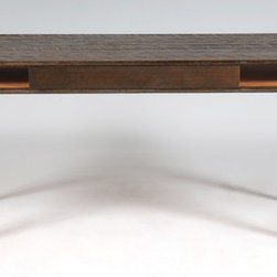 Versailles Desk - A rustic mid century modern design, this piece is built with all reclaimed rough sawn antique pine and oak from Versailles, NC.  Hand Built by Reclamation Company in Hickory, NC.