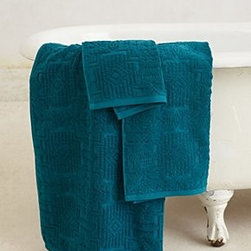 """Anthropologie - Lassen Quilted Towel - By PendletonCottonHand washWashcloth: 13"""" squareHand towel: 30""""L, 18""""WBath towel: 58""""L, 30""""WImported"""