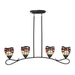 Dale Tiffany - New Dale Tiffany Fall River 4-Light Pendant - Product Details