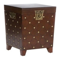 Southern Enterprises Nailhead Trunk End Table, Espresso Stain - This looks like a vintage chest that my grandmother might have owned. I love everything about it.