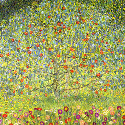 "WCC - Gustav Klimt Apple Tree Printed on Highest Quality Artist's Canvas 24""x24"" - High quality 0.56 mm thick 400 gsm cotton canvas."