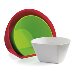 Cuisipro 2.5 Cup 3 Piece Scoop Measuring Bowls Set - The Cuisipro Nesting Scoop Bowls are versatile bowls that can be used as prep measuring and storage bowls. The unique shape of the bowl allows you to scoop ingredients directly from your cutting board. 3 Sizes are included - 3/4 cup 1.5 Cup & 2.5 Cup.