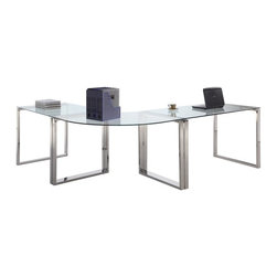 Chintaly - Chintaly Finnigan Modern Glass Computer Desk Multicolor - CTY1170 - Shop for Desks from Hayneedle.com! Sleek modern looks and adaptable setup make the Chintaly Finnigan Modern Glass Computer Desk perfect for just about any space. The shiny chrome finish beautifully supports a tempered glass top for lasting beauty. Make work less of a chore with this beautiful desk.About Chintaly ImportsBased in Farmingdale New York Chintaly Imports has been supplying the furniture industry with quality products since 1997. From its humble beginning with a small assortment of casual dining tables and chairs Chintaly Imports has grown to become a full-range supplier of curios computer desks accent pieces occasional table barstools pub sets upholstery groups and bedroom sets. This assortment of products includes many high-styled contemporary and traditionally-styled items. Chintaly Imports takes pride in the fact that many of its products offer the innovative look style and quality which are offered with other suppliers at much higher prices. Currently Chintaly Imports products appeal to a broad customer base which encompasses many single store operations along with numerous top 100 dealers. Chintaly Imports showrooms are located in High Point North Carolina and Las Vegas Nevada.