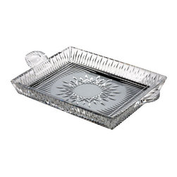"Waterford Crystal - Waterford Crystal Lismore Diamond Square Serving Tray 12"" 156511 - Waterford Lismore Diamond Square Serving Tray 12""  -  Don't Buy From An Unauthorized Dealer  -  Genuine Waterford Crystal  -  Fully Authorized U.S. Waterford Crystal Dealer  -  Stamped With The Waterford Seahorse Symbol Of Excellence  -  Waterford Crystal UPC Number: 024258504226"