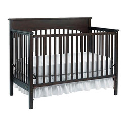 Graco Lauren 4-in-1 Convertible Crib With Headboard, Espresso - For a more classic look, I really like this dark brown crib. You could dress it up with frills or add a tepee mobile above it. It's all good.