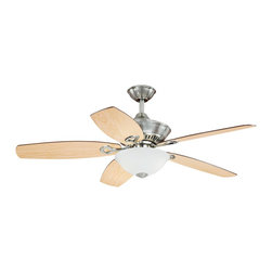 """Vaxcel - Vaxcel F0001 April 52"""" Ceiling Fan - Vaxcel Lighting AireRyder F0001 April 52-in Ceiling Fan This Vaxcel Lighting item comes in a satin nickel finish. Features etched white glass. Works with"""