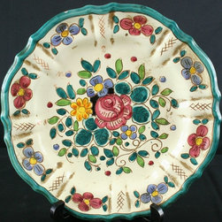 EuroLux Home - Consigned Vintage Italian Majolica Hand-Painted Plate - Product Details
