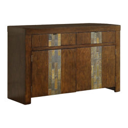 Riverside Furniture - Riverside Furniture Belize Server in Old Word Distressed Pine - Riverside Furniture - Buffet Tables and Sideboards - 1756