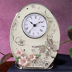 Artico - Floral Pattern Clock with Graceful Butterfly and Flower Design - This gorgeous Floral Pattern Clock with Graceful Butterfly and Flower Design has the finest details and highest quality you will find anywhere! Floral Pattern Clock with Graceful Butterfly and Flower Design is truly remarkable.