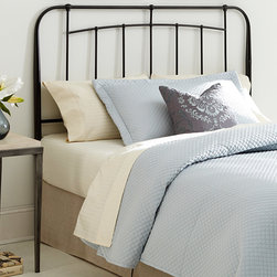 """Fashion Bed Group - Concorde King Headboard in Black Speckle Finish - Concorde King Headboard in Black Speckle Finish; Contemporary design complements any space.; Durable steel construction.; 10 Year Manufacturer Warranty; Weight: 14 lbs; Dimensions: 1.5""""L x 77""""W x 51""""H"""