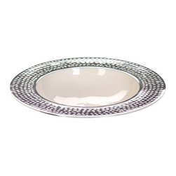 Zodax - Zodax Round Enameled Bowl with Hammered Rim-Small - Zodax - Bowls - IN5122 - Round Enameled Bowl with Hammered Rim