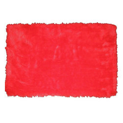 Fun Rugs - Flokati - Red Kids Rugs - 39 x 58 in. - Your child's room is a natural extension of them. Add these innovative designs to spruce up any child's decor.