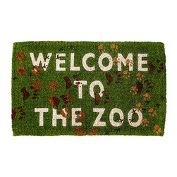 Welcome to the Zoo Delightful Doormat - This doormat is a great place to pause and take off muddy shoes, wipe down mucky paws, and remove leashes. It will also warn visitors what they are in for once the door opens!