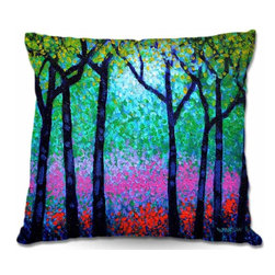 DiaNoche Designs - Pillow Woven Poplin - Spring Woodland - Toss this decorative pillow on any bed, sofa or chair, and add personality to your chic and stylish decor. Lay your head against your new art and relax! Made of woven Poly-Poplin.  Includes a cushy supportive pillow insert, zipped inside. Dye Sublimation printing adheres the ink to the material for long life and durability. Double Sided Print, Machine Washable, Product may vary slightly from image.