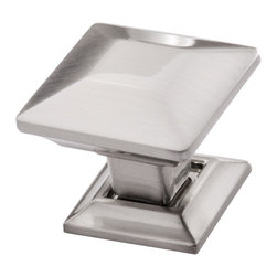 Southern Hills - Square Satin Nickel Cabinet Knob by Southern Hills,  Brushed Nickel, Pack of 5 - Is your kitchen looking a little dated? The good news is that a new look is as close as this square satin nickel cabinet knob from Southern Hills.  The satin nickel complements a wide variety of cabinet finishes and lends a classic look to your kitchen or bath. In fact, this cabinet hardware won't just lend your space a fresh look; you'll get to keep it!  Pack of 5 knobs.