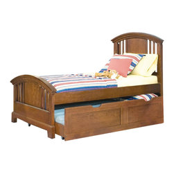 American Woodcrafters - American Woodcrafters Bradford Panel Bed - Twin - The clean and simple lines of the Bradford Collection are a soothing end to a long day of work or play. This collection offers function versatility and fun.