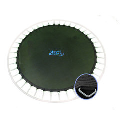 """Upper Bounce - Upper Bounce 15' Trampoline Jumping Mat fits for 15 FT. Round Frames with 96 V-R - Replace your trampoline with a new and strong jumping mat special designed to fit all brands and models with the above size. Features: -Trampoline jumping mat. -Material: Heavy duty polypropylene from USA fade-resistant fabric material UV-resistance. -Mat size: Mat measures 161"""" included the V-Loops - 159"""" without the V-Rings. -Trampoline frame size: Made for a 180"""" round trampoline. -Amount of V-Loops: Have 96 (Galvanized Steel) V-Rings for springs. -Assembly required."""