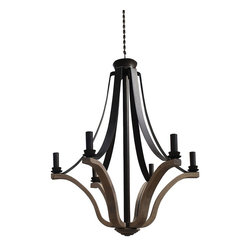 "Bordeaux 29"" Wine Barrel Chandelier - Taking its inspiration from the French wine growing region of Bordeaux. Our Bordeaux Collection recreates the famous wine barrel light fixtures, which were created originally from the staves of French wine barrels and wrapped using the iron barrel straps. Bordeaux features an array of inspired selections, from the sturdy drum slat chandeliers to the elegant Tulip fixtures."