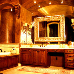 mediterranean bathroom vanities and sink consoles by Sunwest Woodworks