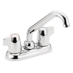 """Moen Incorporated - Moen Two Handle Laundry Faucet - Chrome finish. 4"""" Centers. 1/2"""" IPS connections. 2. 2 GPM"""
