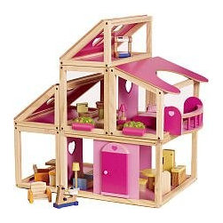 Imaginarium Modular Dollhouse - The Imaginarium modular dollhouse lets kids create a variety of dollhouse configurations. It has large openings for easy access and includes 22 pieces of furniture.