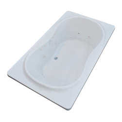 Arista - Fabriano 36 x 72 Air & Whirlpool Drop-In Bathtub w/ Center Drain - Left Pump - DESCRIPTION