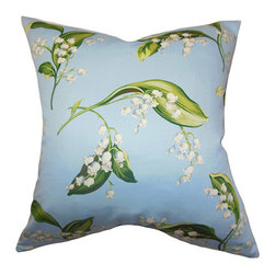 The Pillow Collection - Bekele Blue 18 x 18 Floral Throw Pillow - - Pillows have hidden zippers for easy removal and cleaning  - Reversible pillow with same fabric on both sides  - Comes standard with a 5/95 feather blend pillow insert  - All four sides have a clean knife-edge finish  - Pillow insert is 19 x 19 to ensure a tight and generous fit  - Cover and insert made in the USA  - Spot clean and Dry cleaning recommended  - Fill Material: 5/95 down feather blend The Pillow Collection - P18-MVT-1223-C100