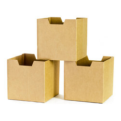 Quark Enterprises - Cardboard Cubby Bins, 3-Pack - Sprout cardboard cubby bins offer simple, modern, and practical design. Made from recycled cardboard, these bins will help to organize your child's life. Designed for use in the Sprout Cubby, you can store books, toys and more in these fun storage bins. More economical than plastic and canvas bins, Sprout cubby bins feature fun graphic designs, and add a unique touch to any playroom, bedroom or nursery.
