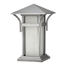 Hinkley Lighting - Hinkley Lighting 2576TT-LED Harbor Outdoor - Harbor has an updated nautical feel, with a style inspired by the clean, strong lines of a welcoming lighthouse. The cast aluminum and brass construction is accented by bold stripes against the seedy glass.