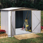 Arrow Sentry Shed - Take a look at some of our Arrow brand sheds. Arrow is the leading manufacturer of steel sheds in the USA. They offer a very economical solution to all of your storage needs. Arrow has a full line of small garden sheds to large garages.