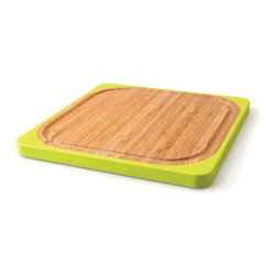 BergHOFF - BergHOFF Square Bamboo Chopping Board Light Brown - 1101682 - Shop for Cutting Boards from Hayneedle.com! Make working in the kitchen more efficient with this superior quality chopping board. The BergHOFF Square Bamboo Chopping Board is designed to make working in the kitchen easier. This chopping board is also an eco-friendly alternative to traditional wooden cutting boards. It's made from bamboo treated with food grade mineral oil which makes it perfect for light chopping and cutting. Moreover the non-slip silicone grip handles ensure the board stays put. For this board Washing by hand is recommended.