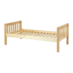 Maxtrix - Yo Backless Slat Daybed - MXTX214 - Shop for Daybeds from Hayneedle.com! Crafted for durability the Yo Backless Slat Daybed is made from solid birch hardwood and comes in your choice of non-toxic finishes. A beautiful and classic bed a guardrail is included for safety as well as a slat roll which removes the need for a bunkie board. You also have the option of adding storage drawers or a trundle if needed and you'll rest easy know that this bed meets or exceeds ASTM standards.Additional FeaturesBackless styleMeets or exceeds ASTM standardsWe take your family's safety seriously. That's why all of our bunk beds come with a bunkie board slat pack or metal grid support system. These provide complete mattress support and secure the mattress within the bunk bed frame. Please note: Bunk beds and loft beds are only to be used by children 6 years of age or older.