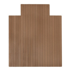 "Anji Mountain - Chestnut Natural Chestnut Composite Chairmat, 43"" x 52"", with lip - Our Natural Composite Chairmat is an exciting innovation for your office space that brings modern styling and superior durability. Similar in design to popular outdoor composite decking this chairmat distinguishes itself by using recycled bamboo and HDPE from recycled plastic bottles. The textured, matte surface is resilient and provides a smooth rolling surface. This chairmat will make a positive impact on the environment as well as your friends and family."