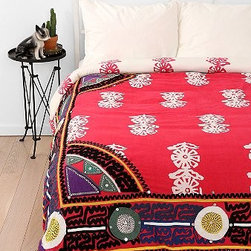 Magical Thinking Embroidered Frame Duvet Cover - Want to bring some color and pattern into your bedroom? This boho duvet cover is a great jumping-off point for a color scheme.