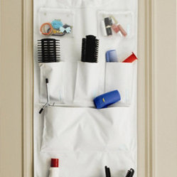 Great Useful Stuff - Kangaroom Over-The-Door Organizer - Kangaroom (cute, huh?) is the answer to your crowded bathroom counter. Its multiple pockets of varying sizes hold up to seven pounds total in storage. Stuff your beauty products inside or whatever else you use daily, but don't want to leave out on your counter.